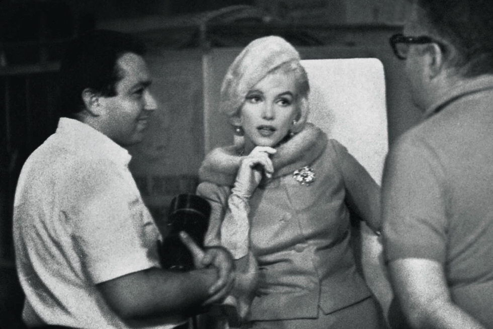 Lawrence Schiller with Marilyn Monroe