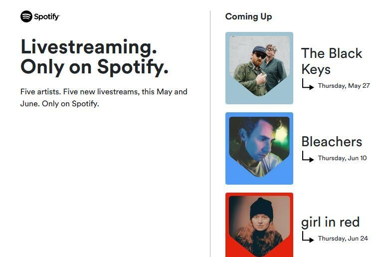 """Spotify presents $ 15 online concerts: """"the global live music industry is far from back to normal"""""""