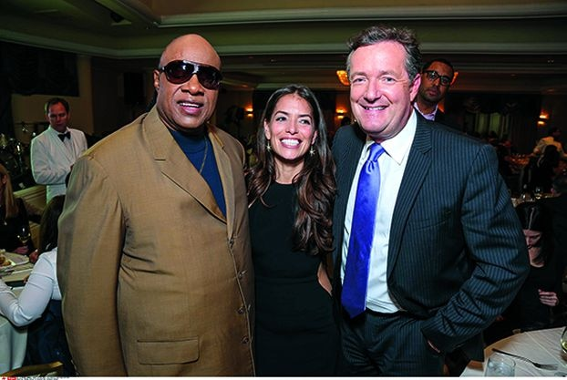 Stevie Wonder, one of Laura Wasser's first famous clients, opened the doors to the jet set for her. Here with host Piers Morgan in Beverly Hills in 2013.