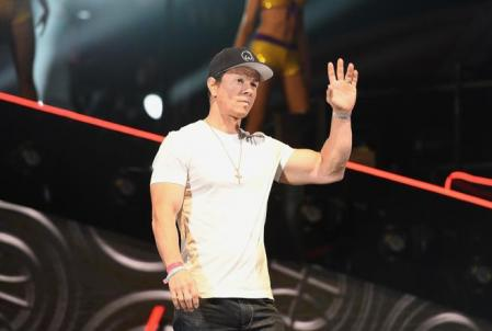 LOS ANGELES, CA - FEBRUARY 17: Mark Wahlberg speaks onstage during the 2018 JBL Three-Point Contest at Staples Center on February 17, 2018 in Los Angeles, California. Kevork Djansezian / Getty Images / AFP == FOR NEWSPAPERS, INTERNET, TELCOS & TELEVISION USE ONLY ==