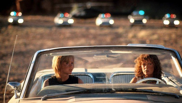 30th anniversary of the film Thelma & Louise, by Ridley Scott starring Susan Sarandon and Geena Davis.