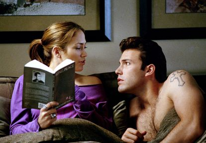 Jennifer Lopez and Ben Affleck in a scene from the movie 'A Dangerous Relationship', 2003.