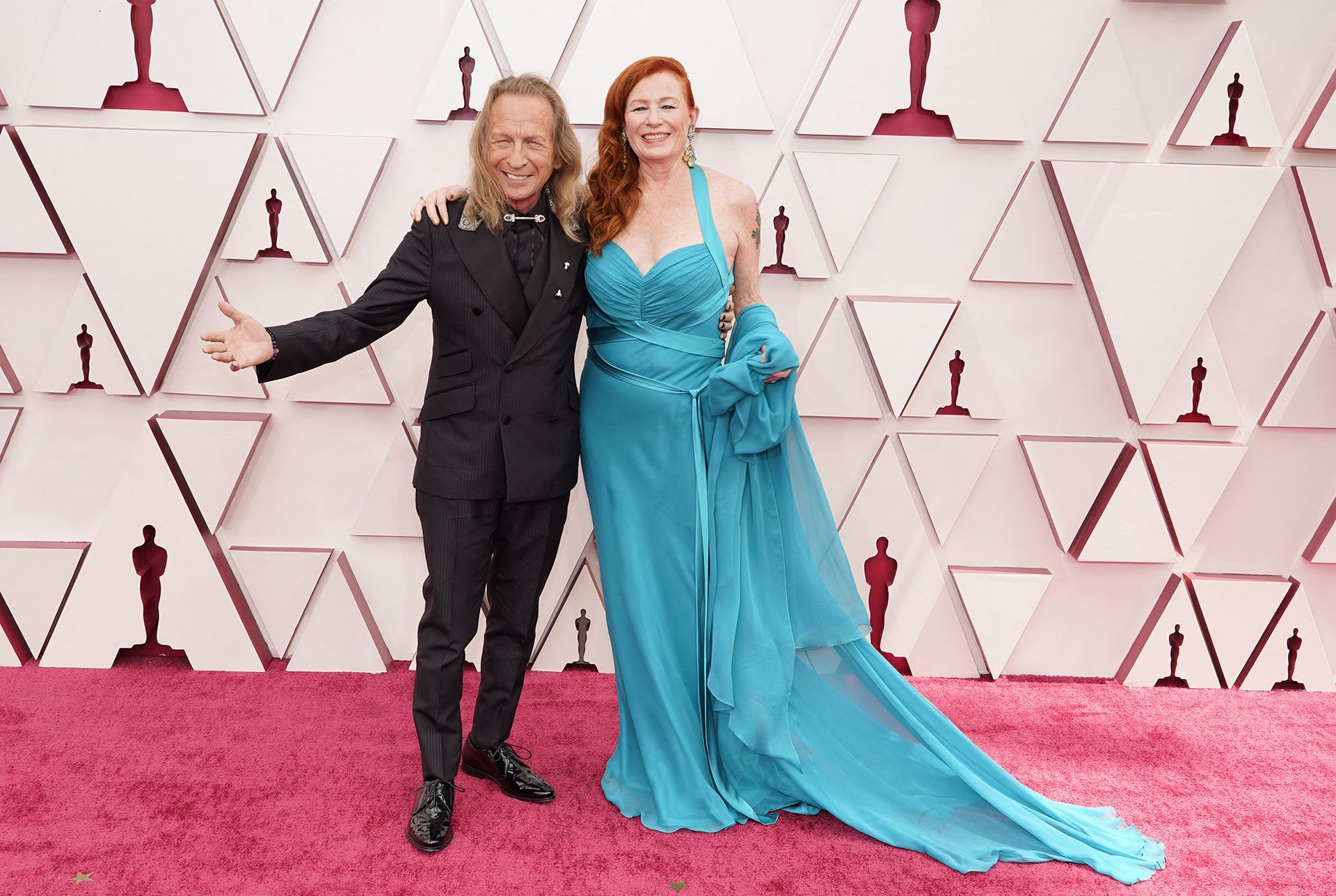 """Paul Raci, who was nominated for best supporting actor for his role in The Sound of Metal, arrived on the red carpet at the Oscars with his wife, Liz Hanley Raci; """"it was a surreal experience"""", he told LA NACION"""