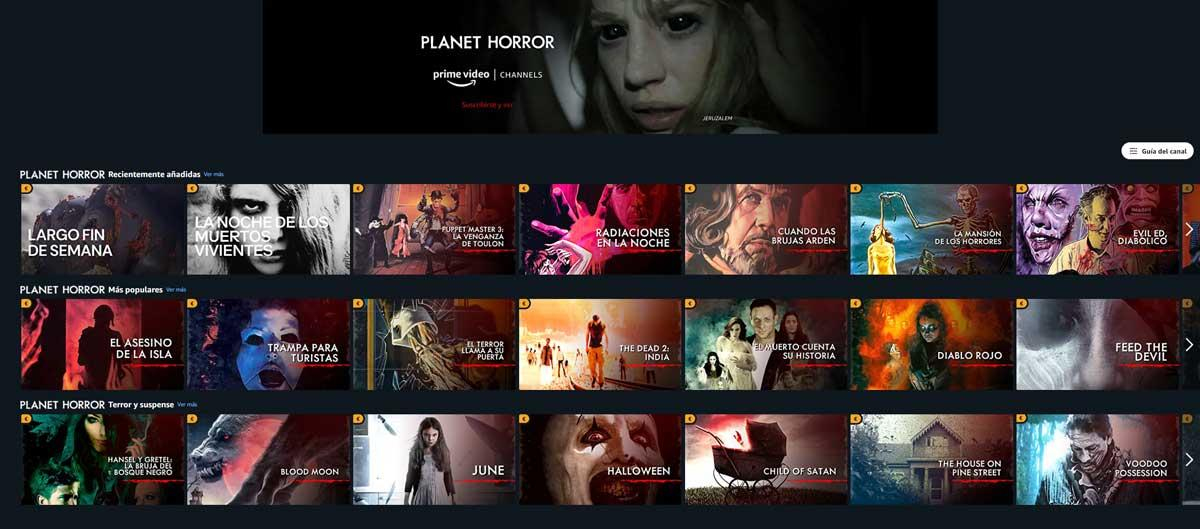 Amazon Prime Video adds Planet Horror channel with scary movies