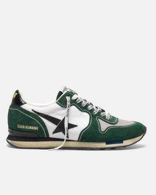 Green detail sneakers