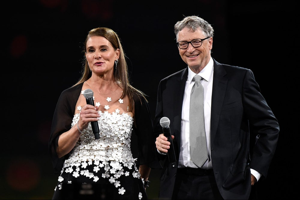 Bill Gates is hiding from his wife at a