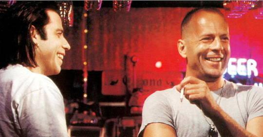 """Bruce Willis and John Travolta: the reunion, 27 years after """"Pulp Fiction"""""""