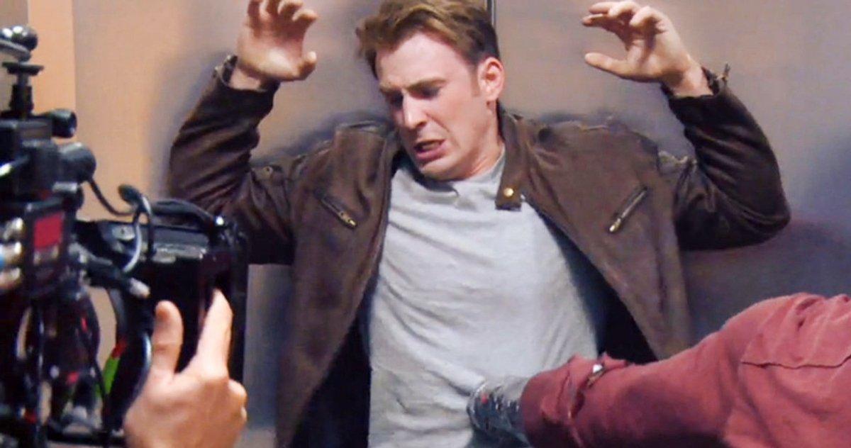 Chris Evans flaunts his big bruise after fighting Ryan Gosling on the Gray Man set