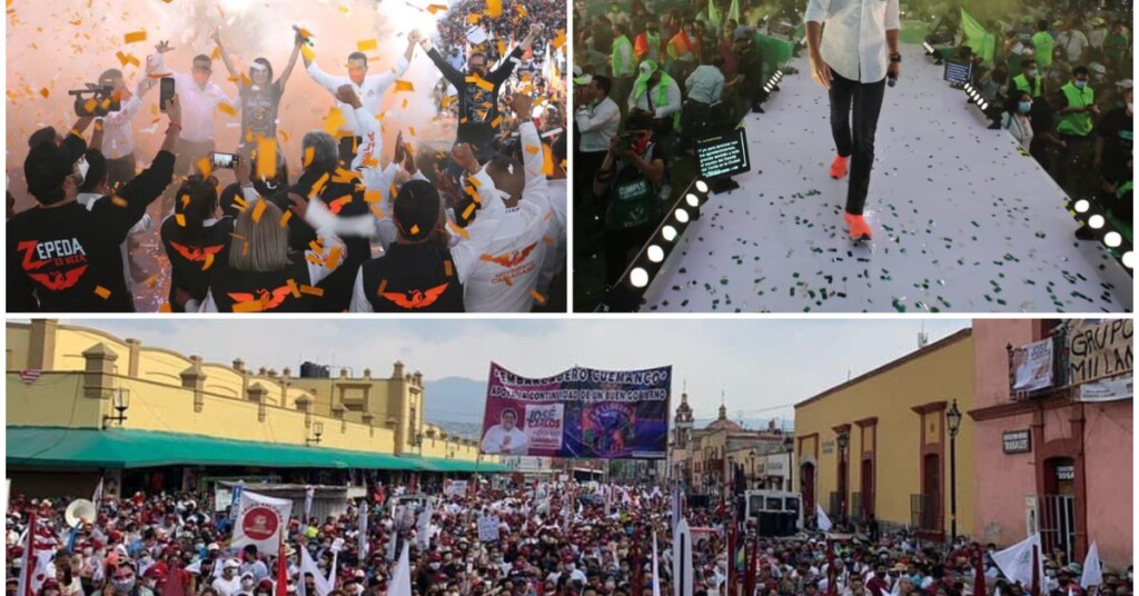 Elections 2021 CDMX and Edomex candidates hold campaign closings with