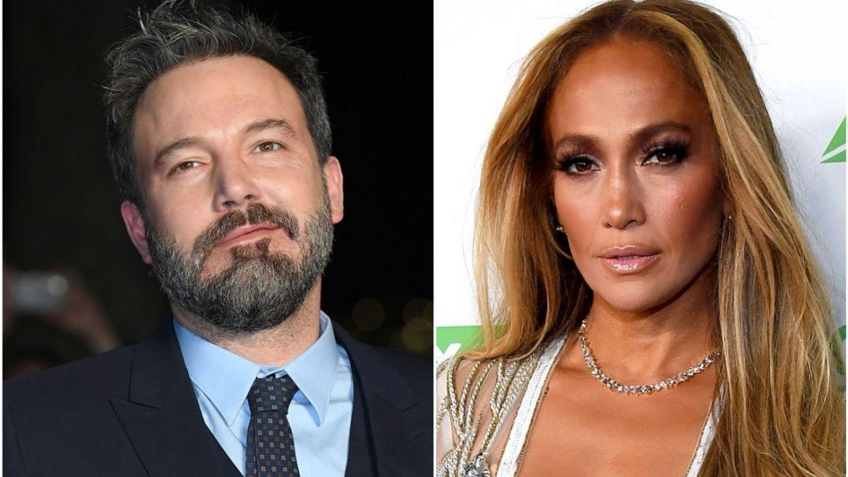 Filtered images of Jennifer Lopez and Ben Affleck together in
