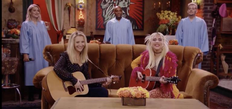 Lisa Kudrow and Lady Gaga sing ad