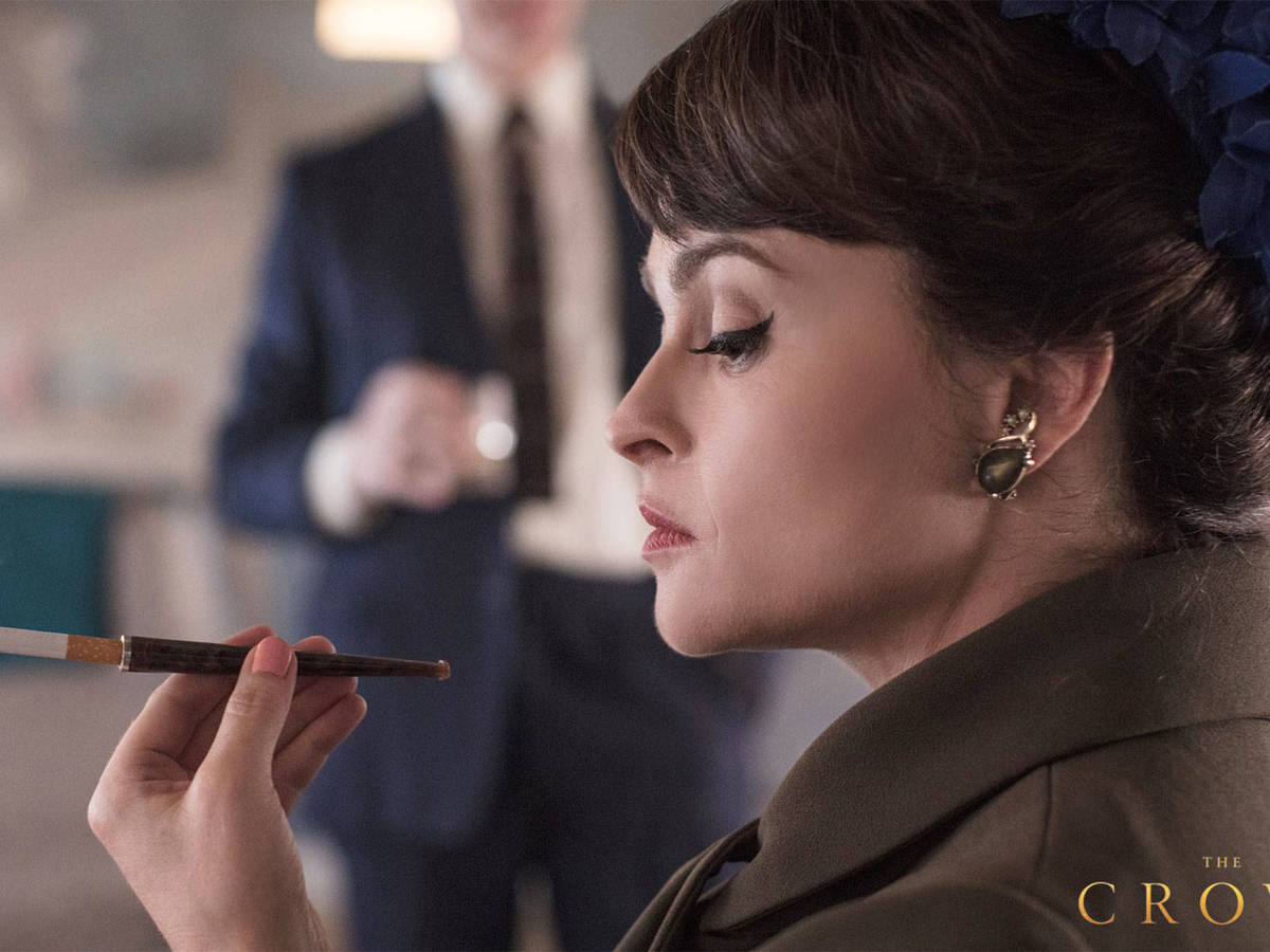 Pictured: Helena Bonham Carter, in the series as Princess Margaret. (Netflix)