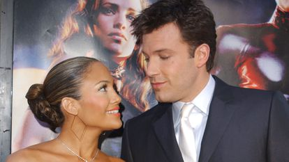 Jennifer Lopez and Ben Affleck at the premiere of 'Daredevil' in Los Angeles in February 2003.