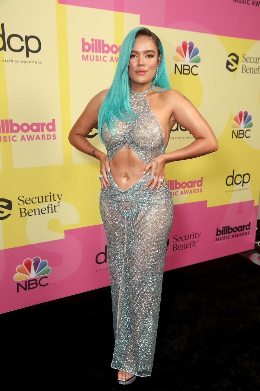 Karol G dazzles on the carpet at the Billboard Awards