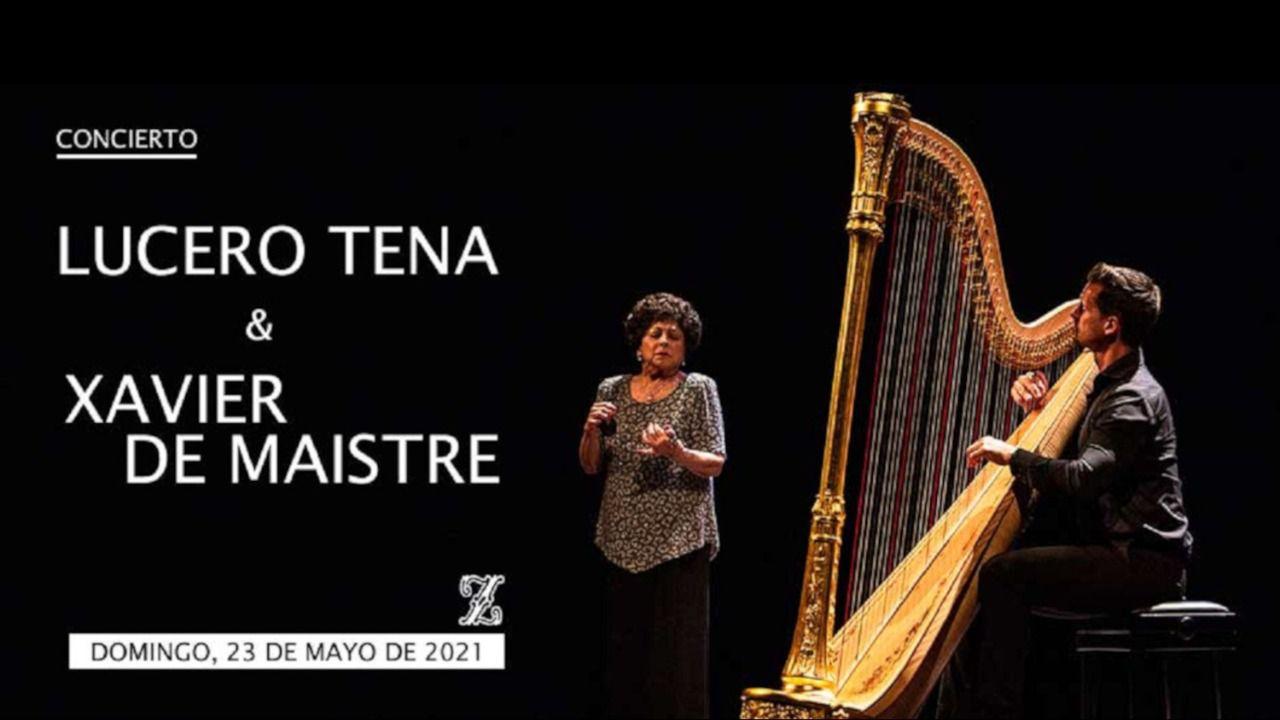 Lucero Tenas castanets in concert at the Teatro de la