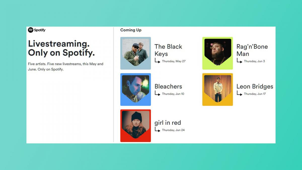Online concerts for 15 this is Spotifys new strategy