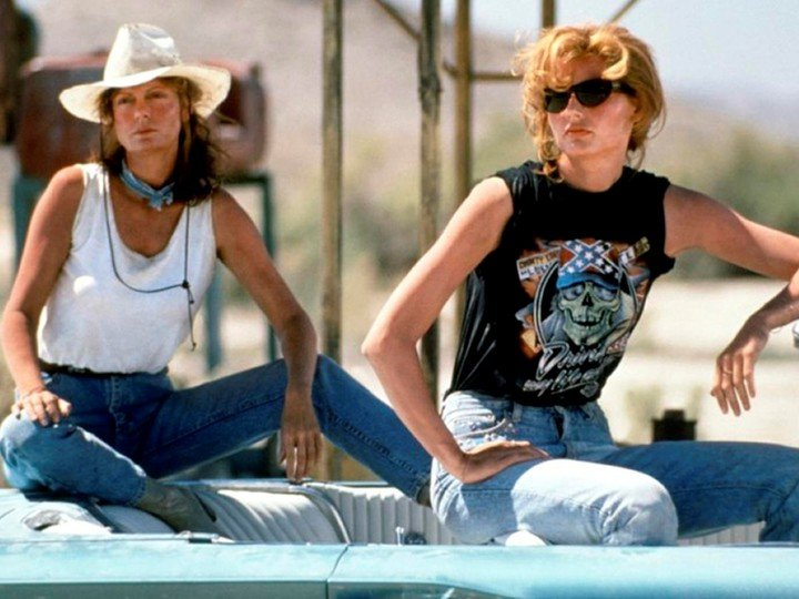 """Susan Sarandon and Geena Davis starring in """"Thelma & Louise"""", directed by Ridley Scott and turning 30"""