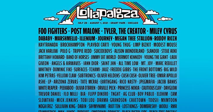 They confirm that the Lollapalooza festival will take place and will be at its maximum capacity