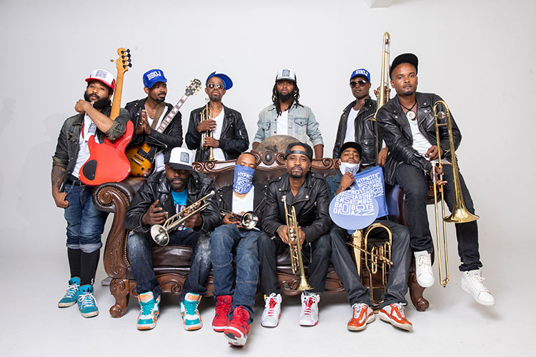 We interviewed the jazz and hip hop band Hypnotic Brass Ensemble