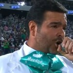 What sanction could Pablo Montero receive by mistake when singing the National Anthem