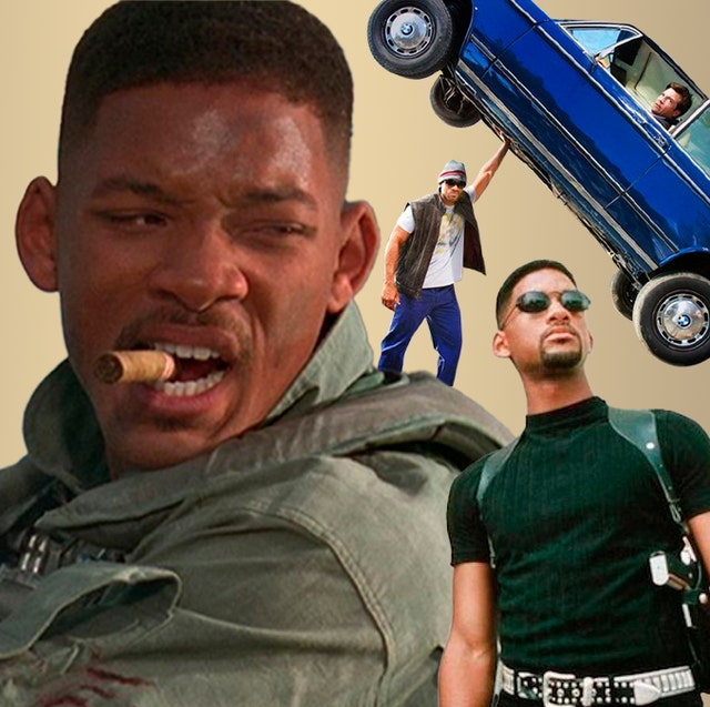 will smith in his best action movies, montage