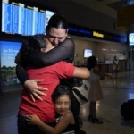 A migrant mother is reunited with her daughter after six years apart, after seeing images of the minor on the US-Mexico border