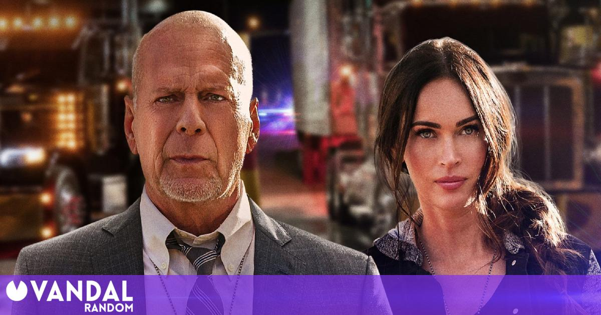 Megan Fox and Bruce Willis after a serial killer in Midnight in the Switchgrass