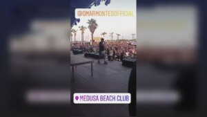 The Medusa suspends the concert of Omar Montes for a few minutes due to the lack of control of the fans