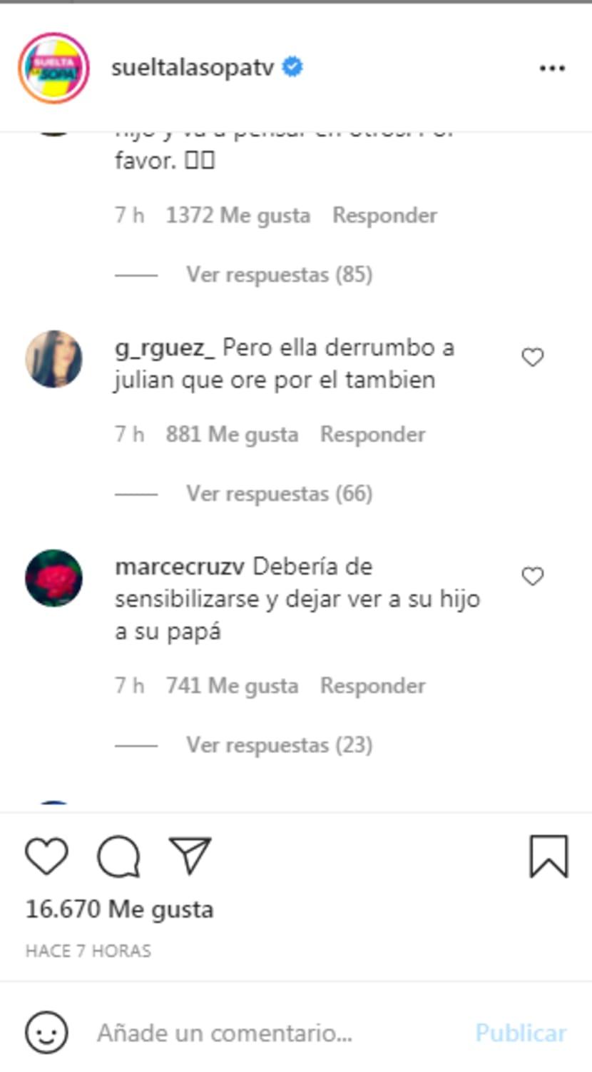 Marjorie asks for victims: Comments towards De Sousa