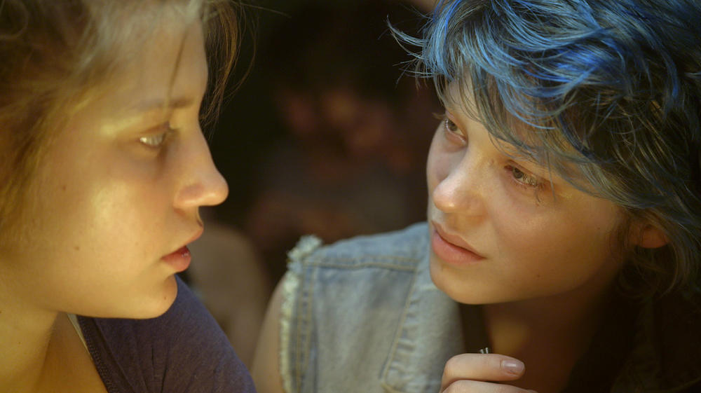 Fiery, poisonous, sensual, Léa Seydoux, girl with blue hair, in La Vie d'Adèle, alongside Adèle Exarchopoulos.