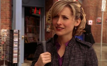 Allison Mack in a picture from Smallville, where she played Chloe Sullivan