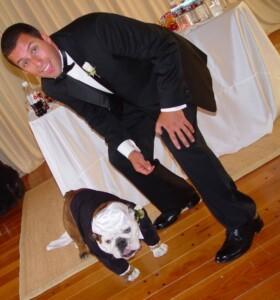 Adam Sandlers dog was the best man at his wedding