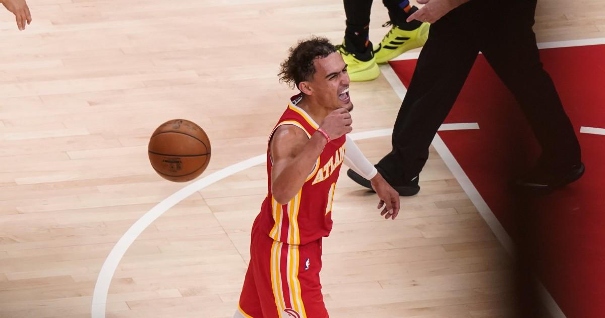 After spit chaos, Hawks beat Knicks