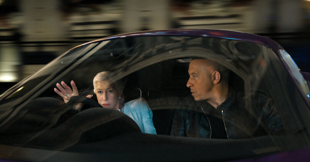 Beep if Helen Mirren and Vin Diesel should have kissed on 'F9'
