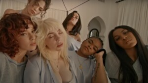 Billie Eilish completely lets go of a crazy sleepover with her friends in her new video, 'Lost Cause'