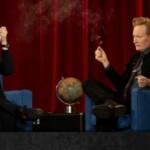 Conan O'Brien celebrates retirement smoking marijuana with Seth Rogen