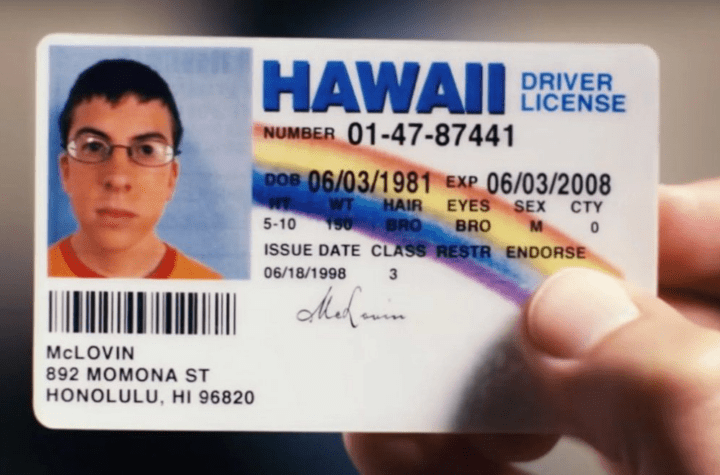 Congratulations on his 40 years to Mclovin cult character from