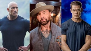 Dave Bautista opens up about making a movie with John Cena and Dwayne Johnson