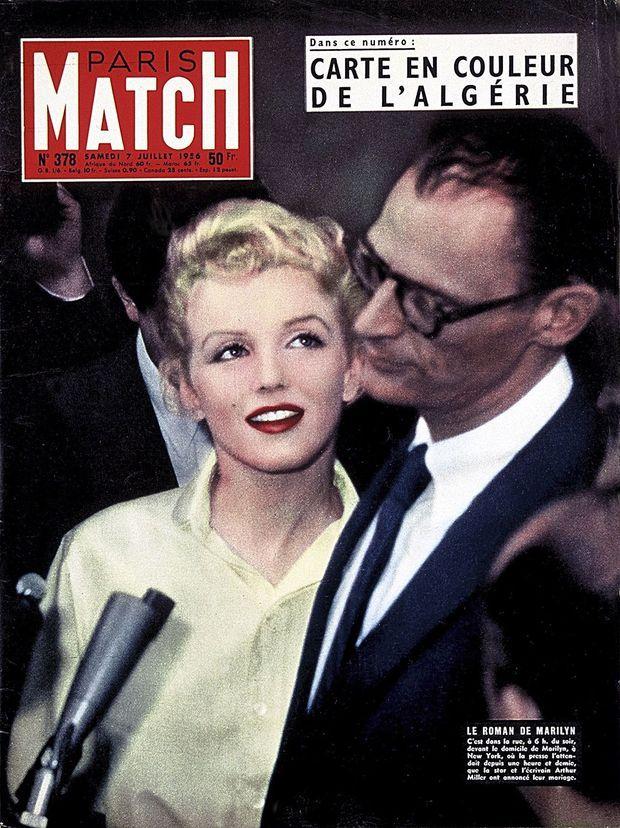 En 1956, le mariage d'Arthur Miller et Marilyn Monroe