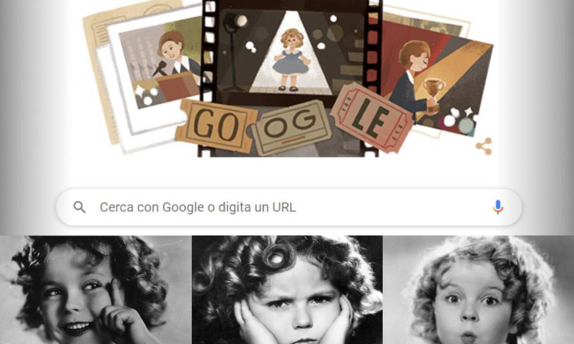 Google doodle remembers actress and singer Shirley Temple who died