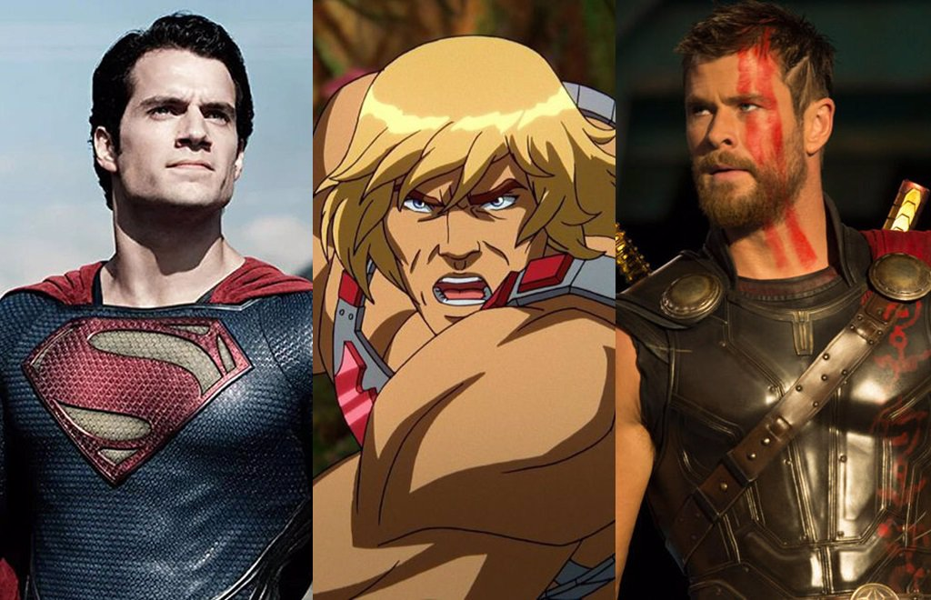 Henry Cavill and Chris Hemsworth fight to be He Man in