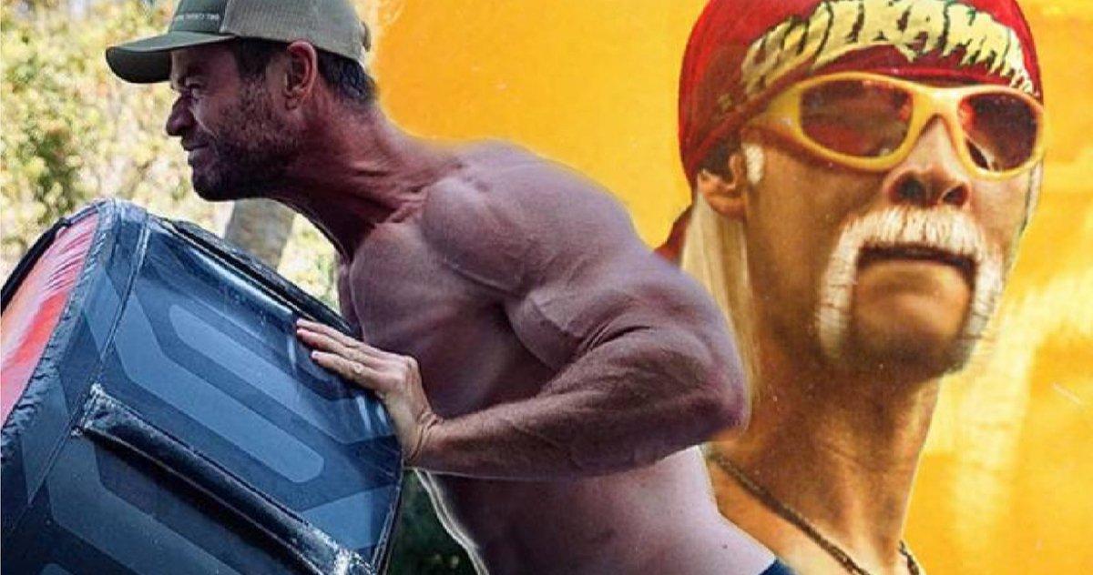 Hulk Hogan Worships Chris Hemsworths Huge Arms Looks Like He