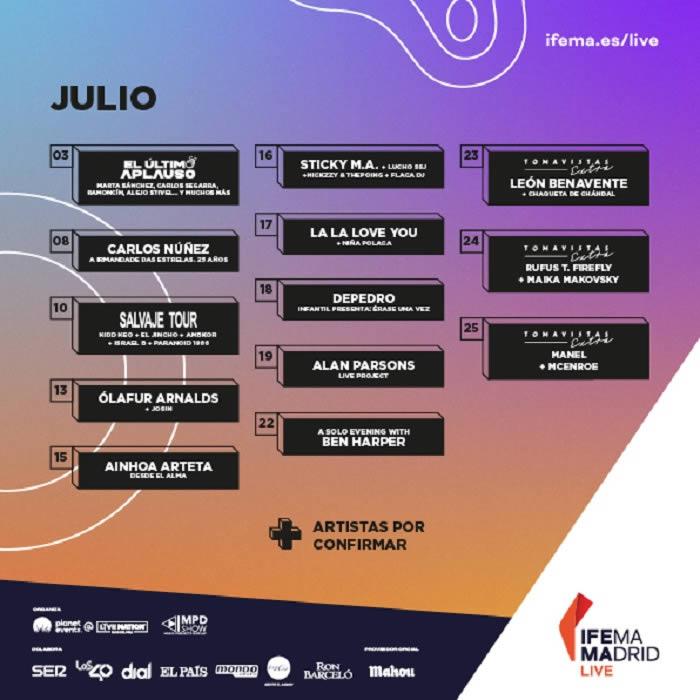 IFEMA Madrid Live, new concert program in July