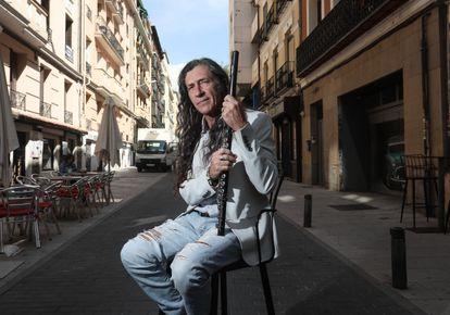 Jorge Pardo, last week, in a central Madrid street.