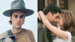 Justin Bieber and David Schwimmer mocked by Jennifer Aniston
