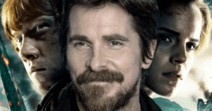 Netflix Christian Bale and a Harry Potter actor in a