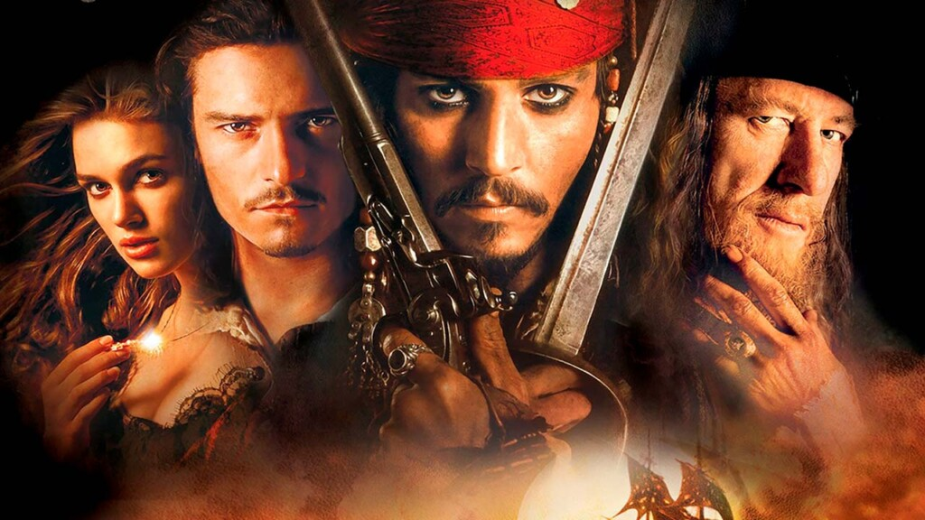 Pirates of the Caribbean with Johnny Depp Orlando Bloom and