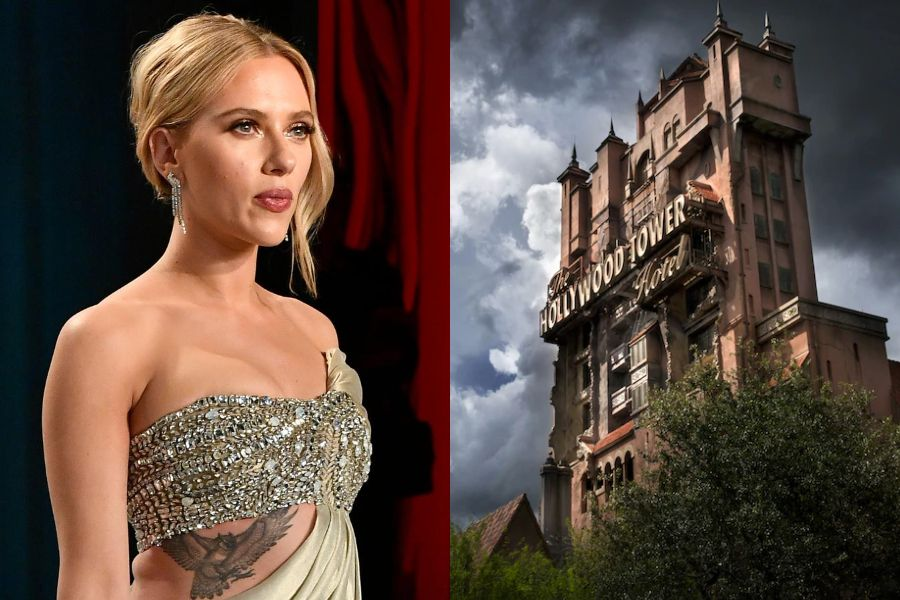 Scarlett Johansson will produce and star in the Tower of Terror film, the Disney parks attraction - The Third