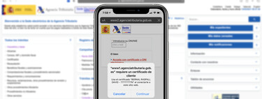So we can install and use the digital certificate of the tax agency on our iPhone, iPad or Mac through Safari