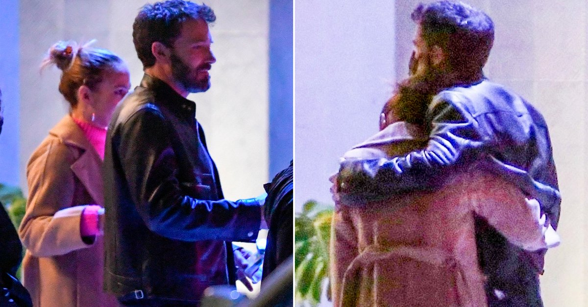 The images of Ben Affleck and Jennifer Lopez in their first public appearance as a couple